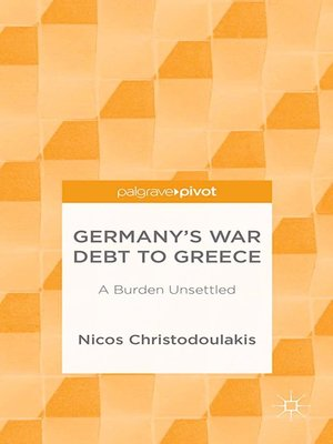 cover image of Germany's War Debt to Greece