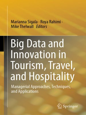 cover image of Big Data and Innovation in Tourism, Travel, and Hospitality