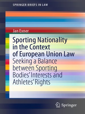cover image of Sporting Nationality in the Context of European Union Law