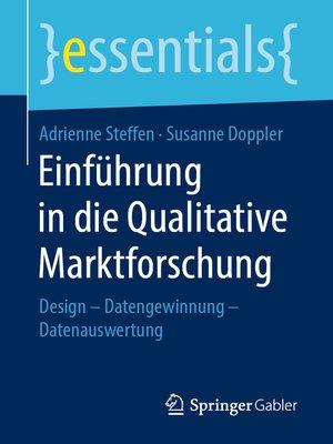 cover image of Einführung in die Qualitative Marktforschung