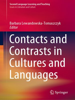 cover image of Contacts and Contrasts in Cultures and Languages