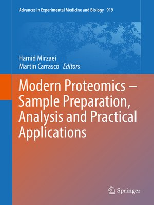 cover image of Modern Proteomics – Sample Preparation, Analysis and Practical Applications