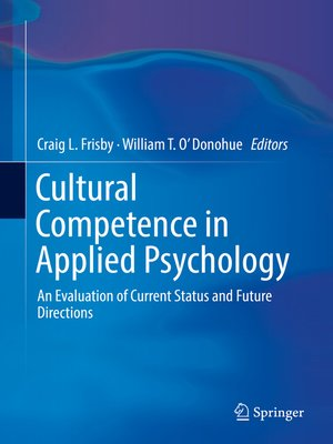cover image of Cultural Competence in Applied Psychology