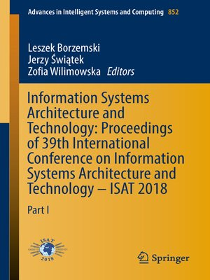 cover image of Information Systems Architecture and Technology