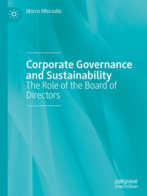 cover image of Corporate Governance and Sustainability