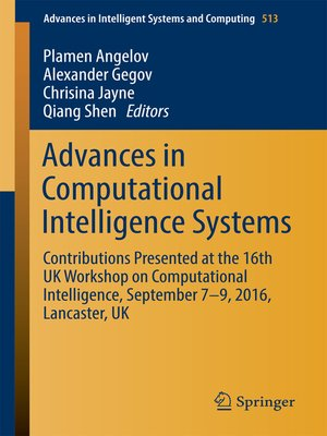 cover image of Advances in Computational Intelligence Systems