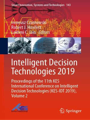 cover image of Intelligent Decision Technologies 2019