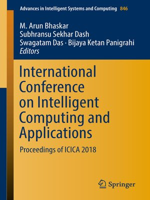 cover image of International Conference on Intelligent Computing and Applications