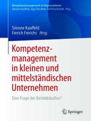 cover image of Kompetenzmanagement in kleinen und mittelständischen Unternehmen