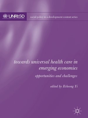 cover image of Towards Universal Health Care in Emerging Economies