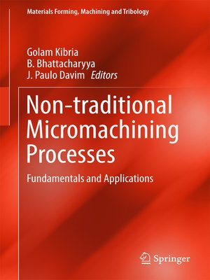 cover image of Non-traditional Micromachining Processes