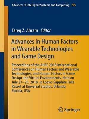 cover image of Advances in Human Factors in Wearable Technologies and Game Design