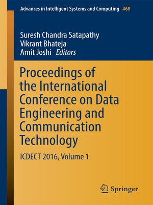 cover image of Proceedings of the International Conference on Data Engineering and Communication Technology
