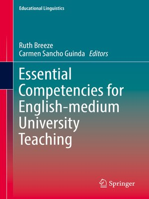 cover image of Essential Competencies for English-medium University Teaching