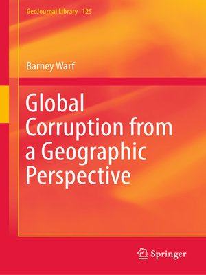 cover image of Global Corruption from a Geographic Perspective