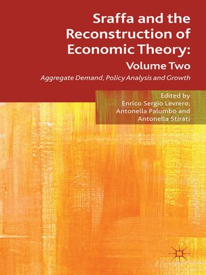 cover image of Sraffa and the Reconstruction of Economic Theory, Volume 2