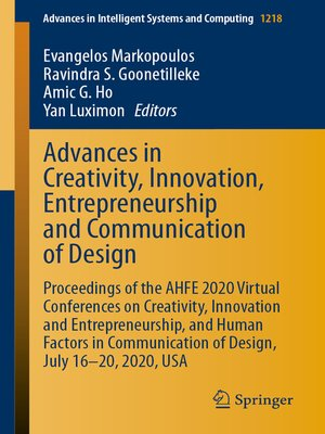 cover image of Advances in Creativity, Innovation, Entrepreneurship and Communication of Design