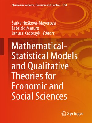 cover image of Mathematical-Statistical Models and Qualitative Theories for Economic and Social Sciences