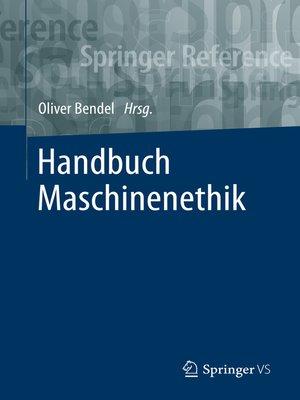 cover image of Handbuch Maschinenethik