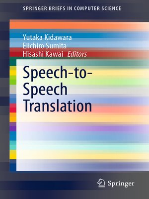 cover image of Speech-to-Speech Translation