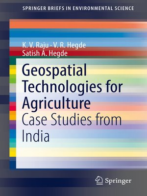 cover image of Geospatial Technologies for Agriculture
