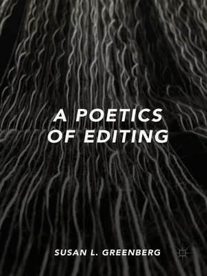 cover image of A Poetics of Editing