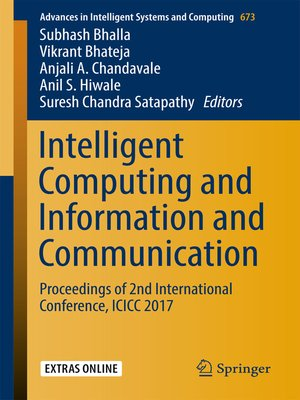 cover image of Intelligent Computing and Information and Communication