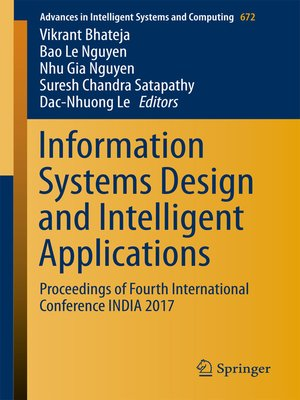 cover image of Information Systems Design and Intelligent Applications
