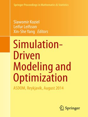 cover image of Simulation-Driven Modeling and Optimization