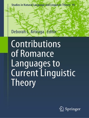 cover image of Contributions of Romance Languages to Current Linguistic Theory