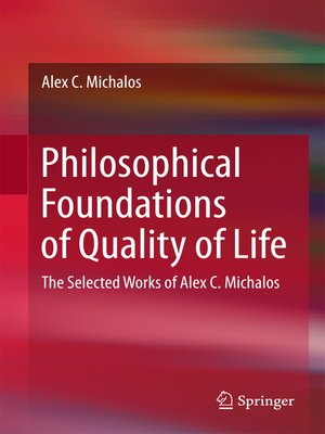 cover image of Philosophical Foundations of Quality of Life