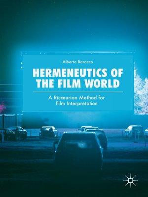 cover image of Hermeneutics of the Film World