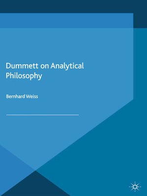 cover image of Dummett on Analytical Philosophy