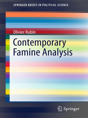 cover image of Contemporary Famine Analysis
