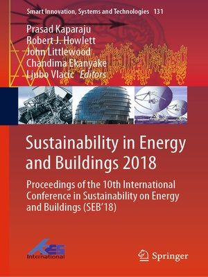 cover image of Sustainability in Energy and Buildings 2018