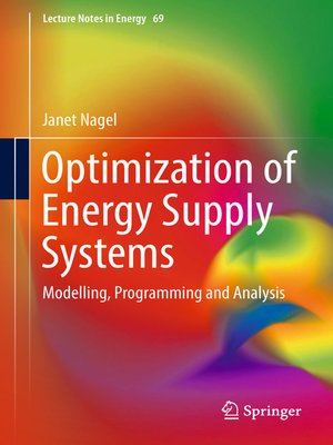 cover image of Optimization of Energy Supply Systems