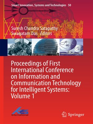 cover image of Proceedings of First International Conference on Information and Communication Technology for Intelligent Systems