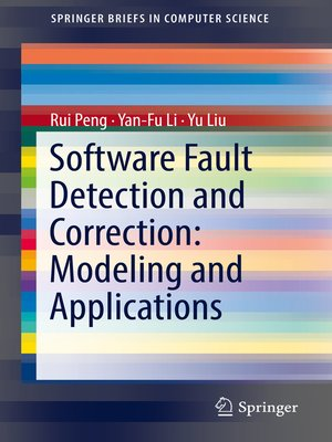 cover image of Software Fault Detection and Correction