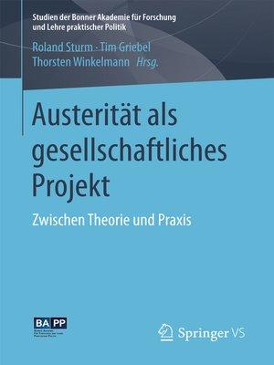 cover image of Austerität als gesellschaftliches Projekt