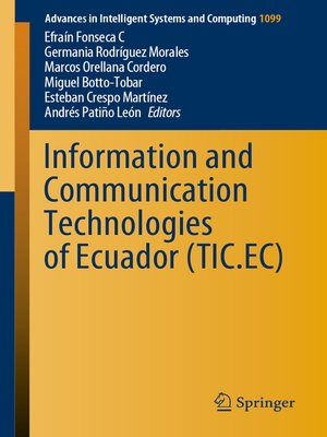 cover image of Information and Communication Technologies of Ecuador (TIC.EC)