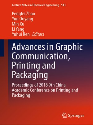 cover image of Advances in Graphic Communication, Printing and Packaging
