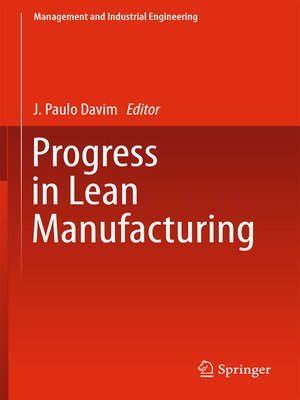 cover image of Progress in Lean Manufacturing