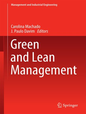 cover image of Green and Lean Management