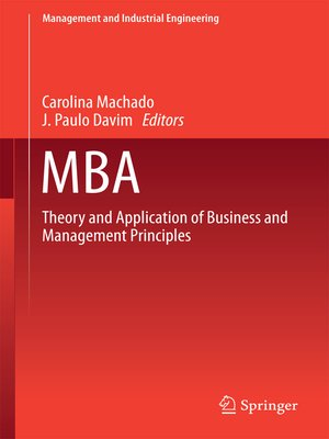 cover image of MBA