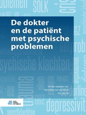 cover image of De dokter en de patiënt met psychische problemen