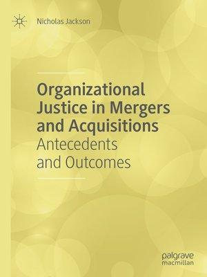 cover image of Organizational Justice in Mergers and Acquisitions