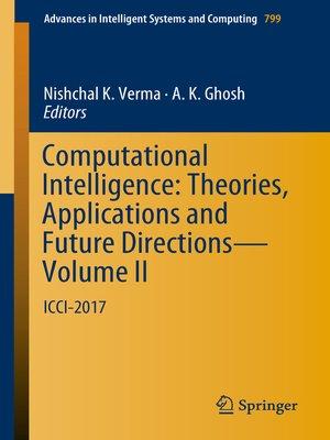 cover image of Computational Intelligence
