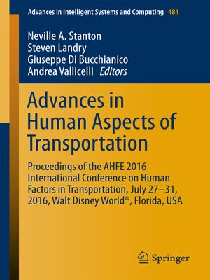 cover image of Advances in Human Aspects of Transportation