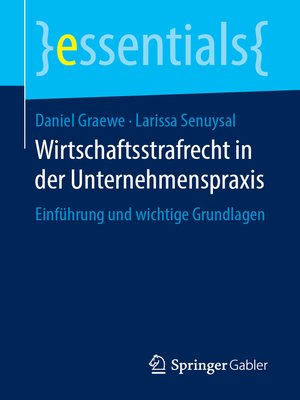 cover image of Wirtschaftsstrafrecht in der Unternehmenspraxis