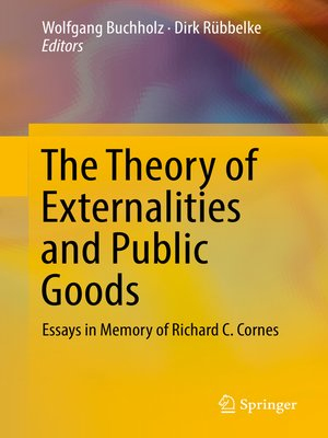 cover image of The Theory of Externalities and Public Goods
